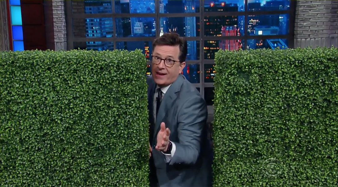 stephen colbert late show sean spicer bushes comey