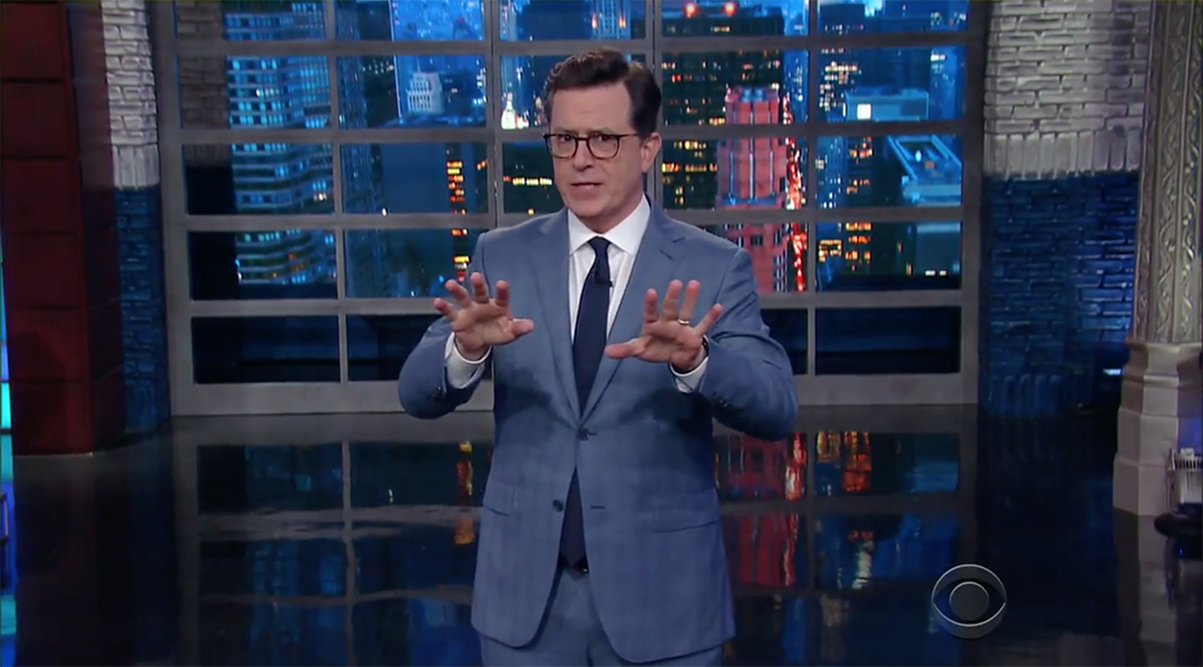late show stephen colbert donald trump robert mueller scandal