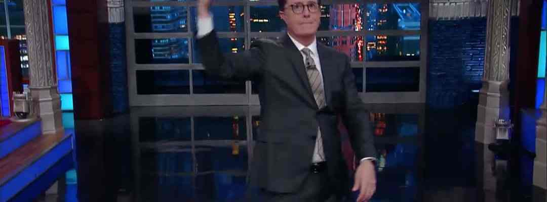 stephen colbert late show donald trump trip abroad saudi arabia middle east