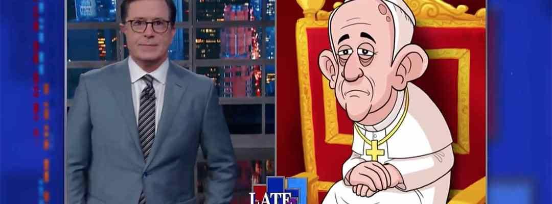 colbert trump pope