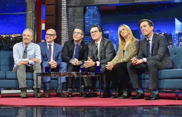 daily show jon stewart stephen colbert bee oliver helms corddry
