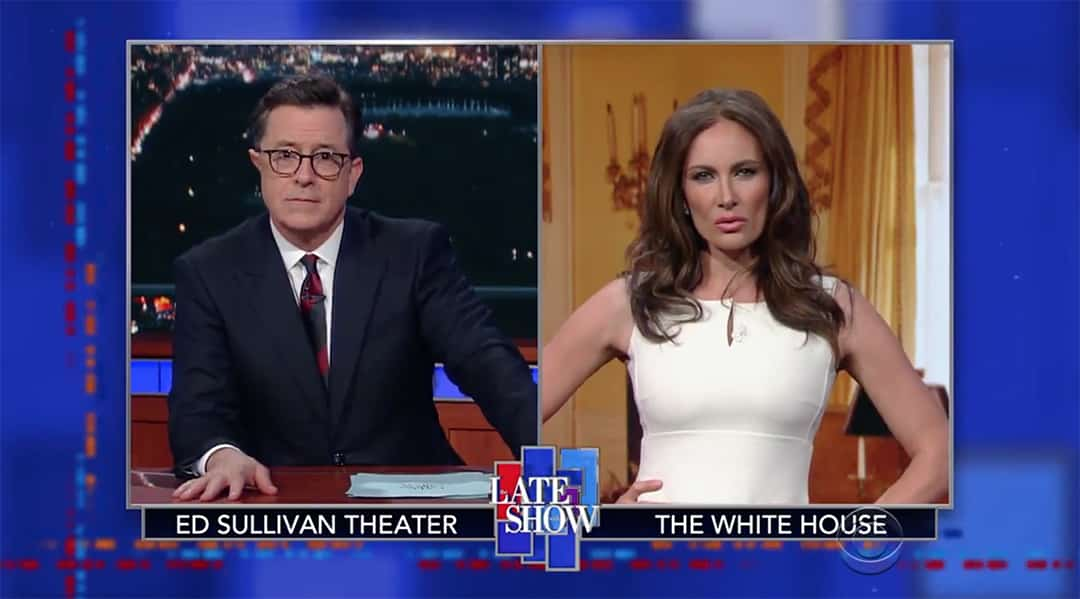 melania trump white house stephen colbert late show