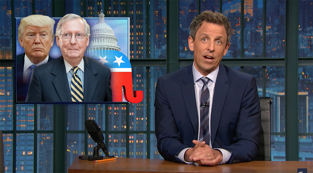 seth meyers mitch mcconnell healthcare bill