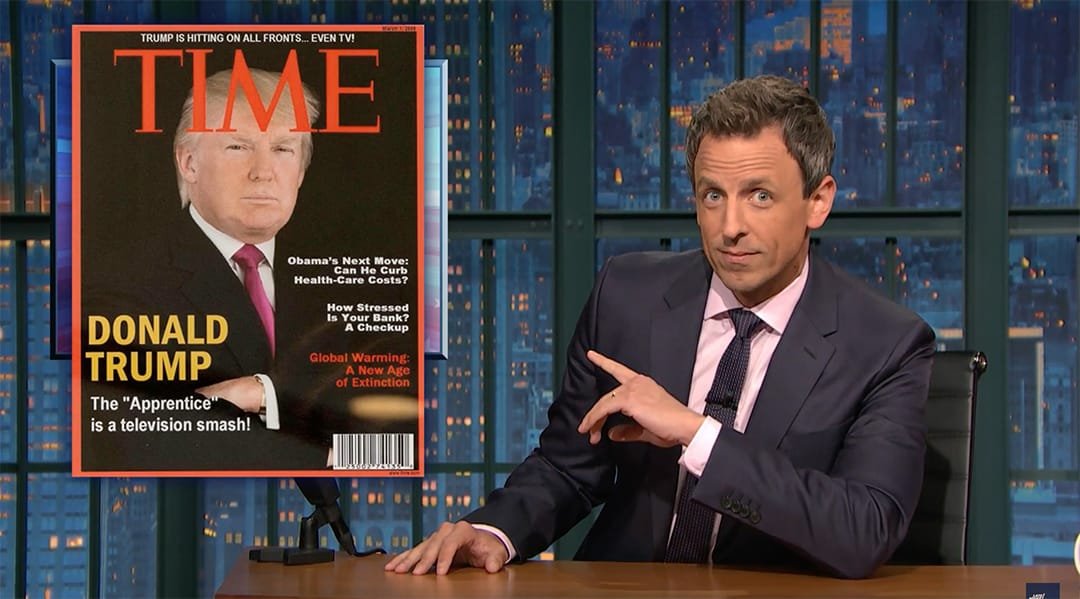 seth meyers trump time magazine