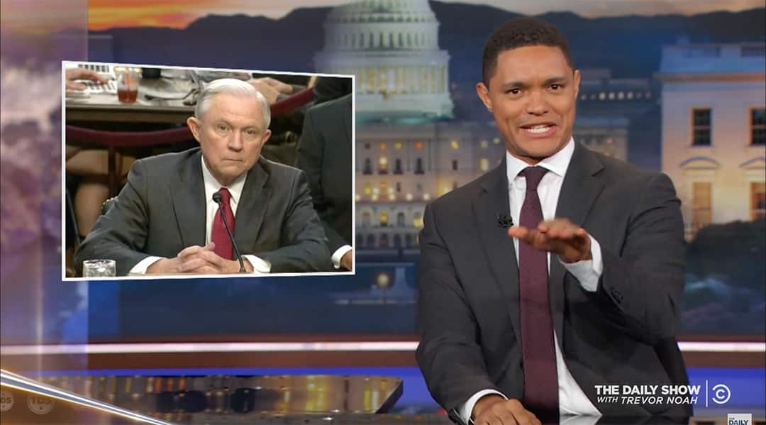 trevor noah jeff sessions robert mueller