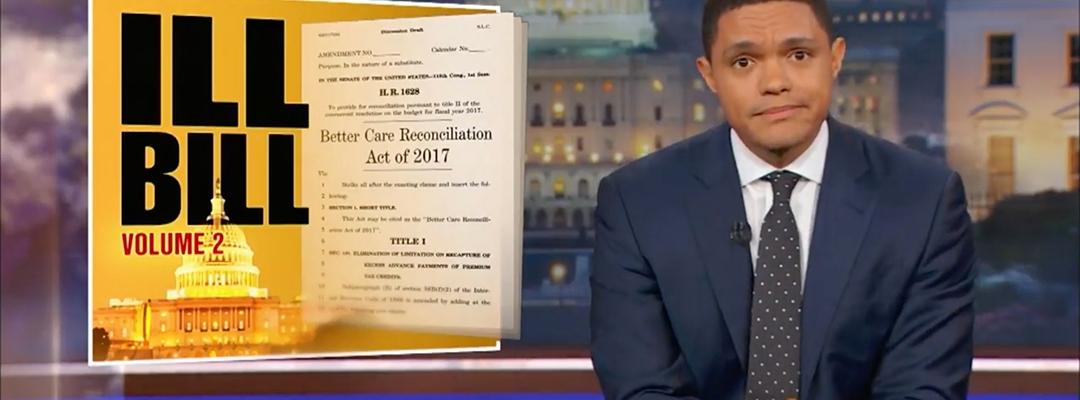 trevor noah obamacare healthcare senate GOP