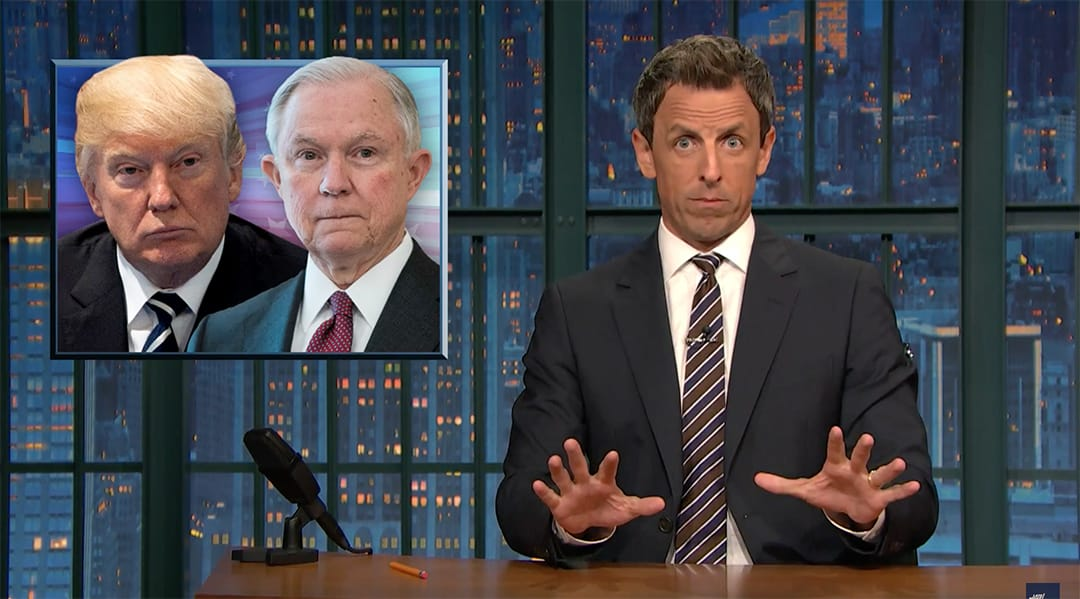 seth meyers jeff sessions donald trump