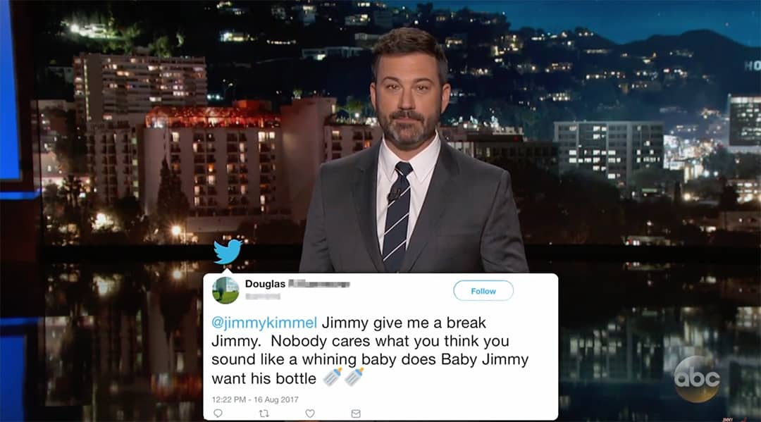 kimmel trump mean tweets