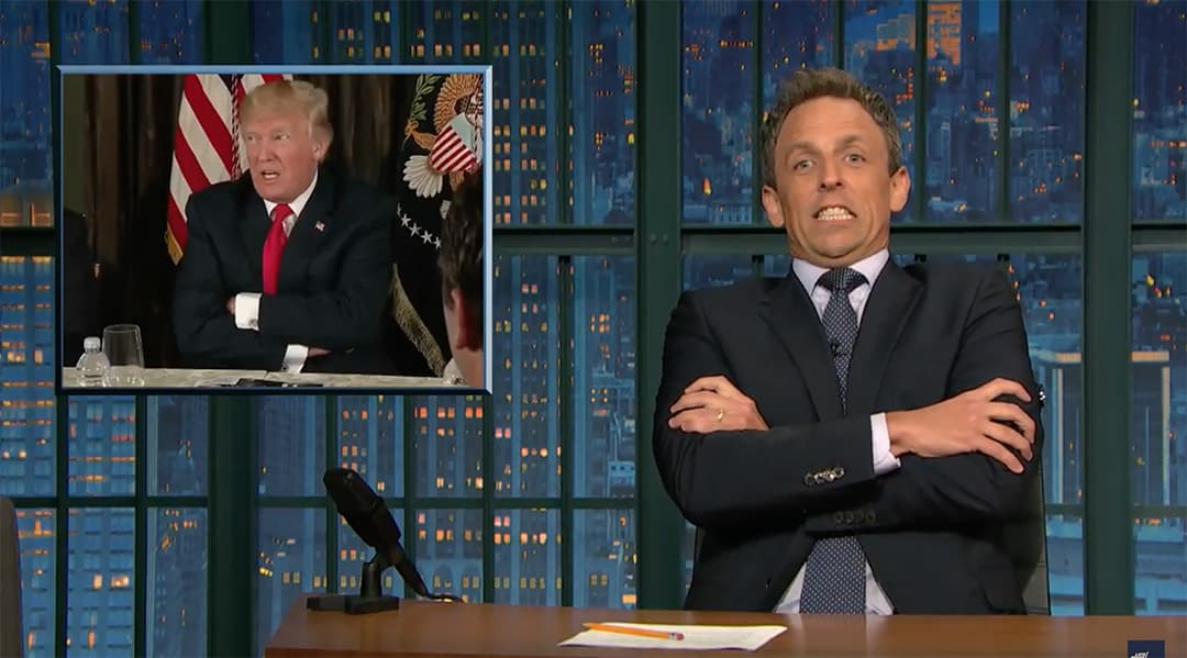seth meyers fire and fury trump north korea