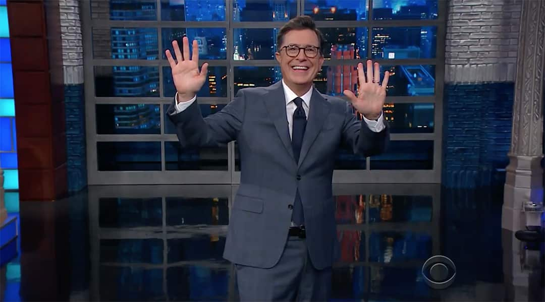 NFL donald trump stephen colbert