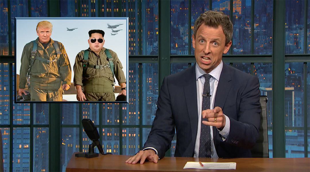 seth meyers rocket man kim jong un trump