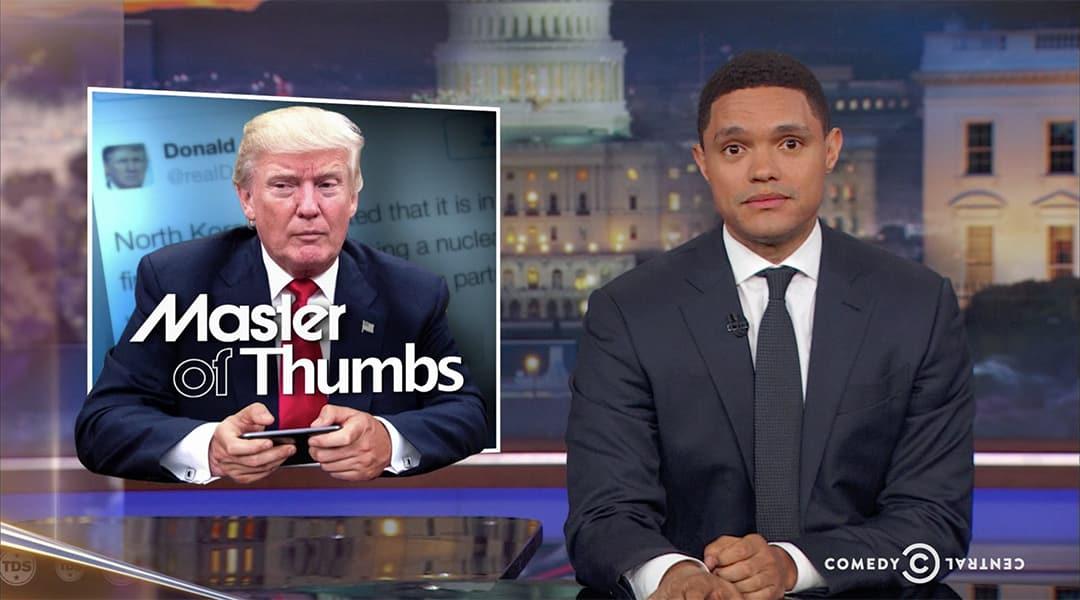 trevor noah trump tweets daily show