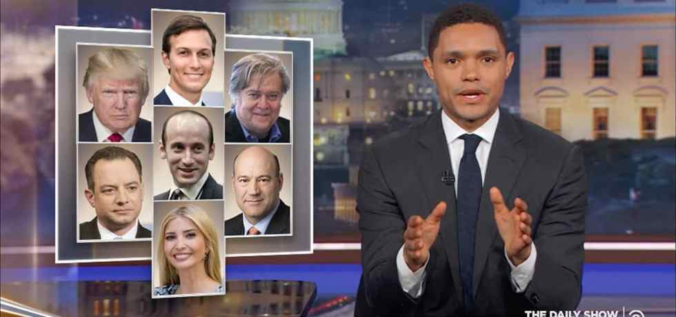 kushner private emails trump daily show trevor noah