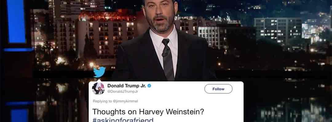 jimmy kimmel live harvey weinstein donald trump jr