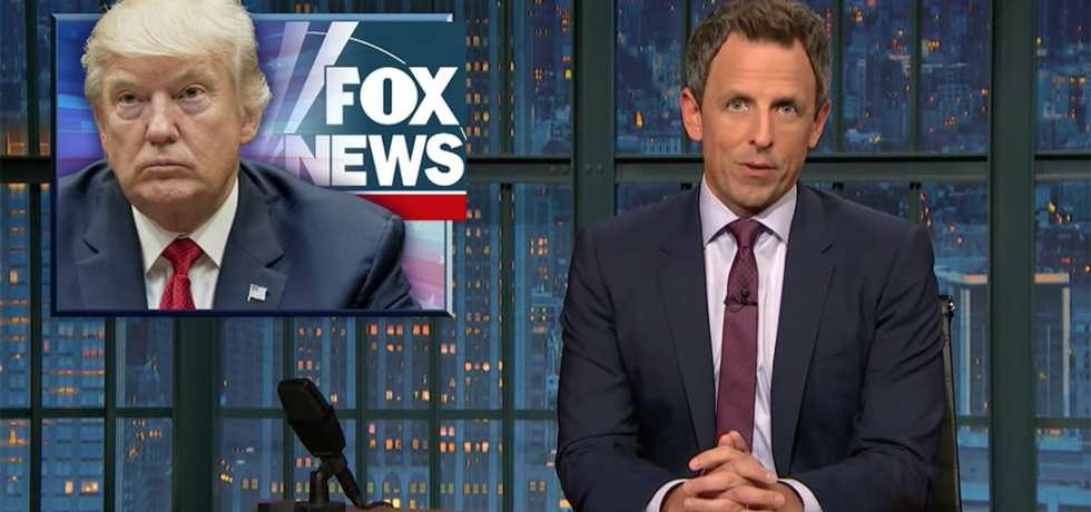 lanx fox news seth meyers trump clinton