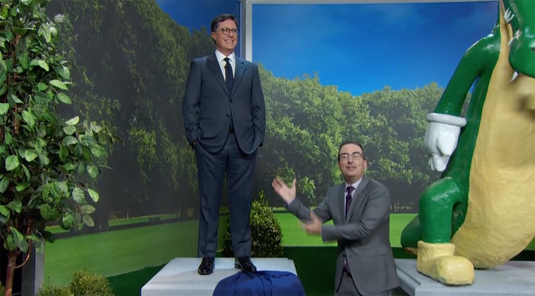 john oliver stephen colbert confederate statues