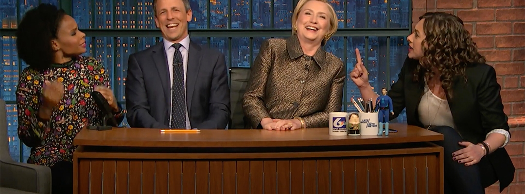 lanx hillary clinton seth meyers late night amber ruffin jenny hagel