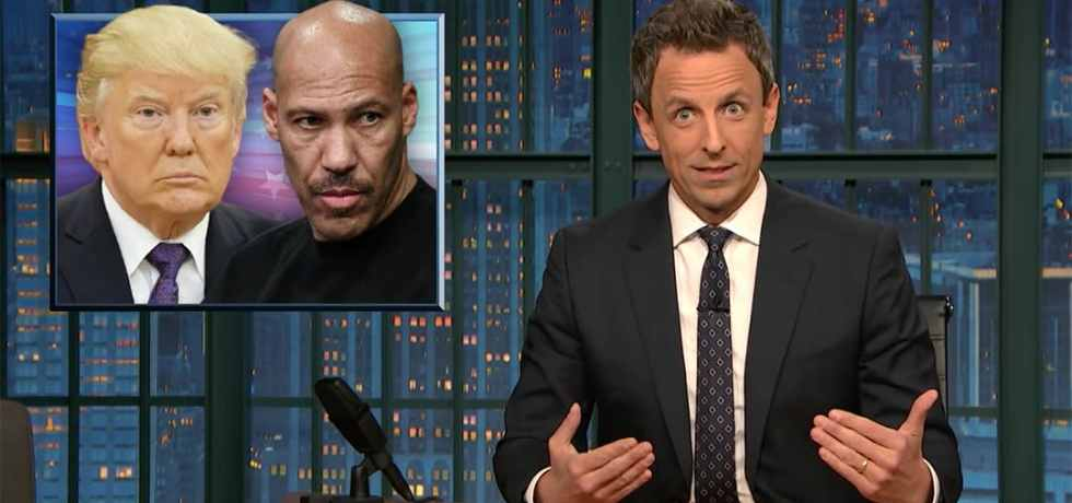 lavar ball lanx seth meyers stephen colbert late night show