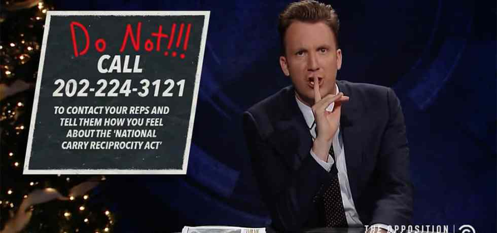 lanx jordan klepper gun law control congress reciprocity